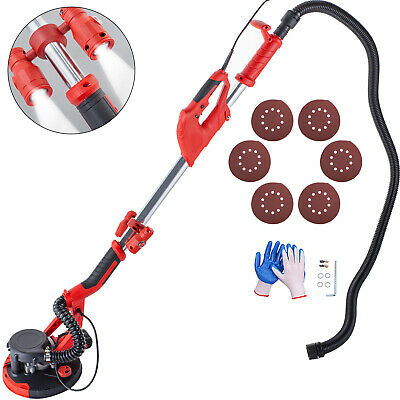 Drywall Sander 750W 225mm Extendable Handle Variable Speed Vacuum w/ LED light