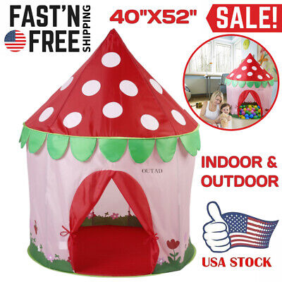 Kids Playhouse Girls Play Tent Princess Castle House Baby Childrens Holiday Gift