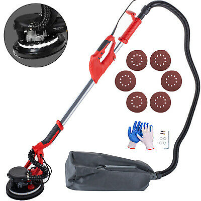 Drywall Sander 750W 225mm Extendable Handle 5 Speed w/ LED light and Vacuum Bag
