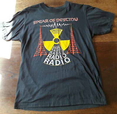 SPEAR OF DESTINY RADIO RADIO 1988 ORIGINAL UK TOUR T-SHIRT Size L LIGHTLY WORN