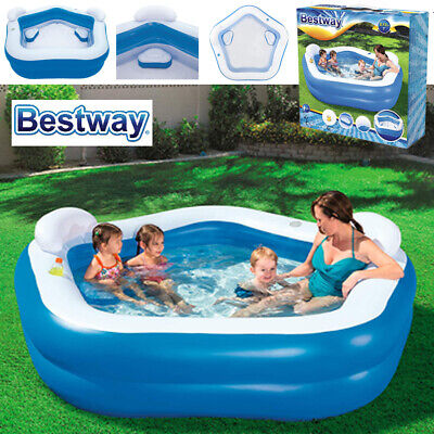 Bestway 7Ft Inflatable Family Lounge Patio Garden Outdoor Paddling Swimming Pool