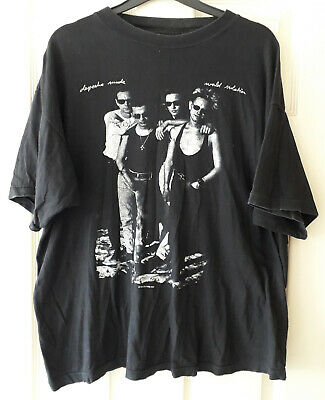 DEPECHE MODE 1990 WORLD VIOLATION ORIGINAL UK TOUR T-SHIRT Size L LIGHTLY WORN