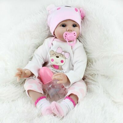 """22"""" Reborn Baby Dolls Real Life Like Looking Newborn Baby Girl Doll + Clothe Toy"""