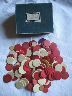 165 Antique Cow/Bovine Bone Round Game Counters/Tokens Or Tiddly Winks