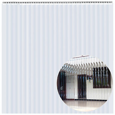 PVC Strip Curtain Vinyl Door Strips 8 x 8Feet Vinyl Strip Door Curtain 24 Strips