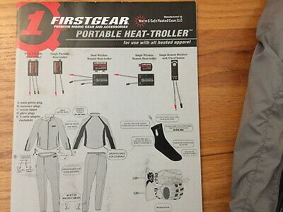 Firstgear Motorcycle Heated Gear Size Large