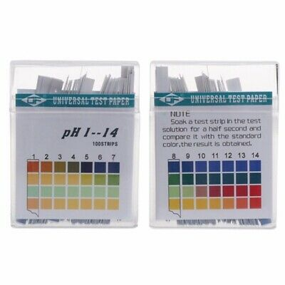 Universal pH Test Paper 100 Strips for Test Body Acid Alkaline pH Level Skin/UK.