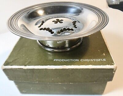 Christofle Silver Plated Tea Strainer With Box France (236)