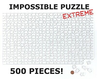 EXTREME Clear Quarantine Acrylic Impossible Jigsaw Puzzle CHOOSE 500 or 100 pc