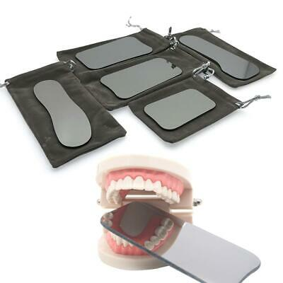 5PCS Dental Orthodontic Oral Intraoral Photographic 2sided Rhodium Glass Mirrors