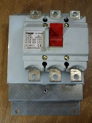 Hager JK 250SR 250A 250 Amp Main Switch Disconnector Isolator