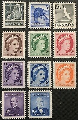 Canada Stamp - Complete Set of 1954 Issues