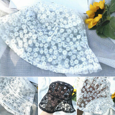 Summer Women Floral Mesh Sun Hat Solid Lace Casual Cap Breathable Thin Sunscreen