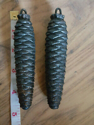 Pair Of Pine Cone Cuckoo Clock weights - No Weight Marked