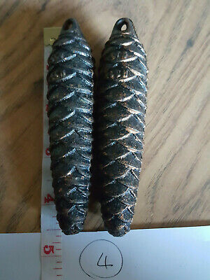 Pair Of Pine Cone Cuckoo Clock weights Approx 275 Grams (4)
