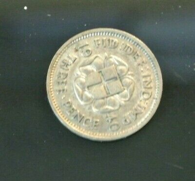 1940 GB George VI silver Threepence grading UNCIRCULATED.