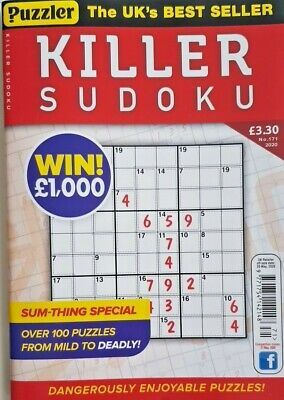 Puzzler Killer Sudoku 2020 # 171 = Over 100 Puzzles