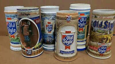 Vintage Heilman's Old Style Beer Steins Lot of 6 1985-1990