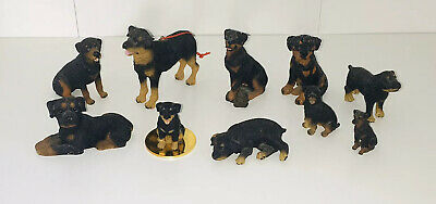 Lot of Rottweiler Puppy Dog Figures Ornament Collectibles Figurines