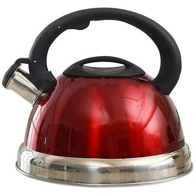 3L Stainless Steel Whistling Tea Kettle Tea Pot with Heat-Proof Handle-Sto Q6V2