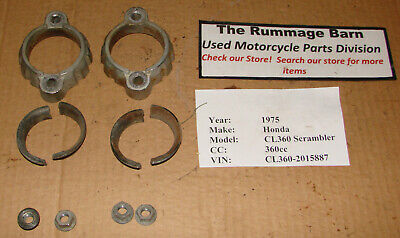 EXHAUST COLLARS , FLANGES / COLLARS / NUTS ------- 1975 HONDA CL360 Scrambler