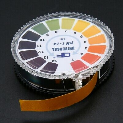 1 Roll 1-14 PH Alkaline Acid Indicator Paper Universal Laboratory Test Paper/UK.