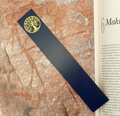 Bookmark TREE OF LIFE Gold foil blocked on Bonded Leather Gift/Keepsake