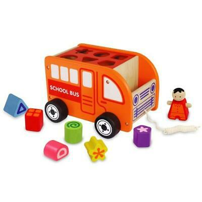NEW Viga Toys Wooden Pull Along Shape Sorting Truck - Baby Pull Toy