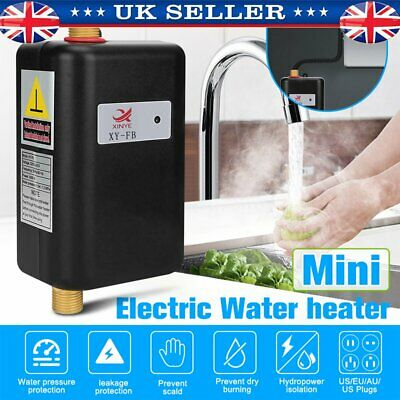 Electric Instant Water Heater Instantaneous In-Line Under Sink Tankless Heating