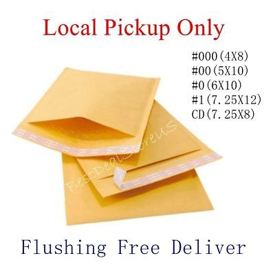 500 #000 4x8 Kraft Bubble Padded Envelopes Mailer Local Pickup Only- NO Shipping