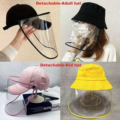 Full Face Cover Shield Anti Saliva Visor Baseball Fisherman Cap Hat Protective