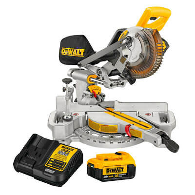 DEWALT DCS361M1 20V MAX 7-1/4 in. Sliding Miter Saw