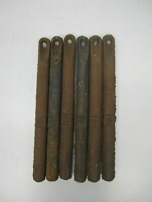 Lot 6 Antique Cast Iron Window Sash Weights 8Lbs Architectural Salvage Fishing C