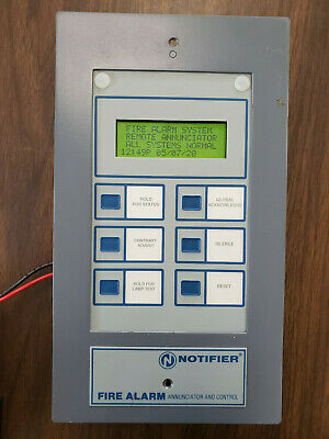 Notifier LCD-80 Annunciator Fully Tested