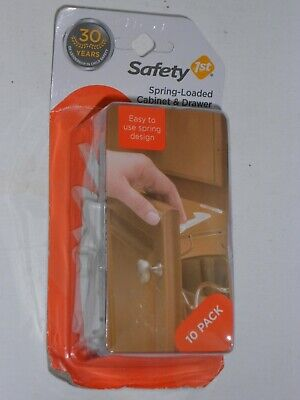 Safety 1St Spring Loaded Cabinet & Drawer Safety Latches, 10 Pack FREE SHIPPING