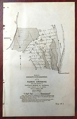 1898 Sketch Map Fleece Crossing Mississippi River