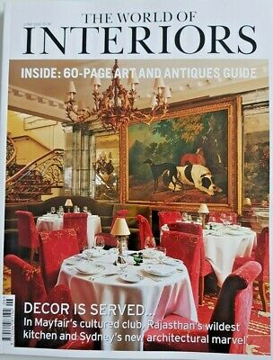 The World Of Interiors Mag June 2020 = 60-Page Art And Antique Guide