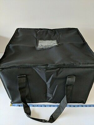 "Insulated Pizza Delivery Bag 19 x 19 x 12"" Commercial Grade Food Delivery"