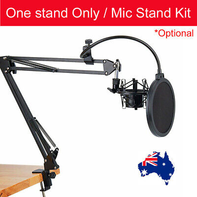 Microphone Suspension Boom Scissor Arm Stand NB-35 with Pop Filter Kit AU