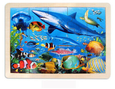 Wooden SeaLife ~ Shark Jigsaw 48 pc Puzzle by Fun Factory 3+
