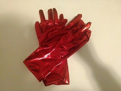 Red latex gloves - lightly used/medium-small