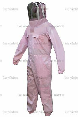 Pink Cotton Beekeeping Full Suits Heavy Duty Unisex Bee Beekeeper Multiple Sizes
