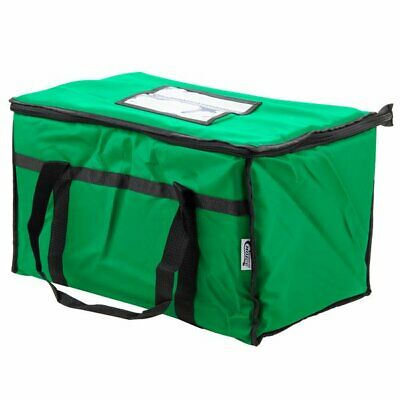 Insulated Food Delivery Bag / Pan Carrier, Green Nylon, 23  x 13  x 15