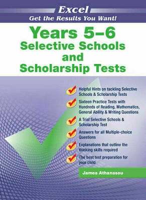 New Excel Selective Schools & Scholarship Test Year 5-6 Workbook! Maths,Eng,Ga!