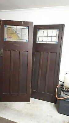 Leadlight California Bungalow Internal Doors-Intact And Original