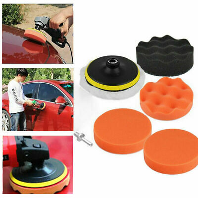 3 Inch For Car Buffing Pad Kit Polishing Wheel Sponge pad Drill Adapter 7pcs/set