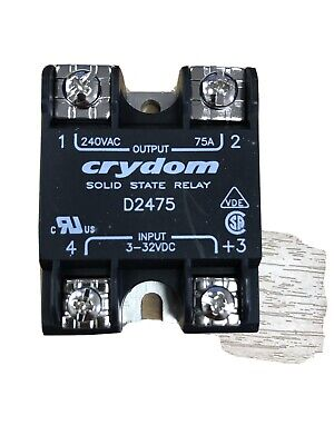 Crydom D4875-10 Solid-State Relay, 480V 75 Amp