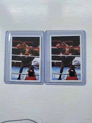 Mile Tyson 1986 Question Of Sport Boxing Sports Card X2