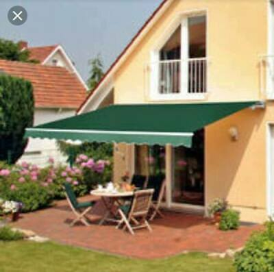 Patio DIY Manual Awning Garden Canopy Shade Retractable Shelter Fabric 2.5 x 2 m