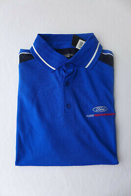 1x Ford Performance Polo-Shirt Atmungsaktiv blau Größe XL Original 35021667